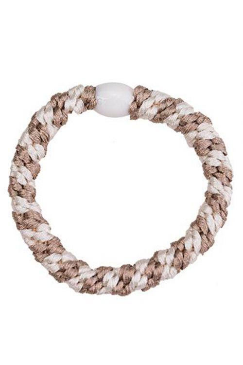 By Stær - Hårelastik - Braided Hairties - Multi Beige/Ivory