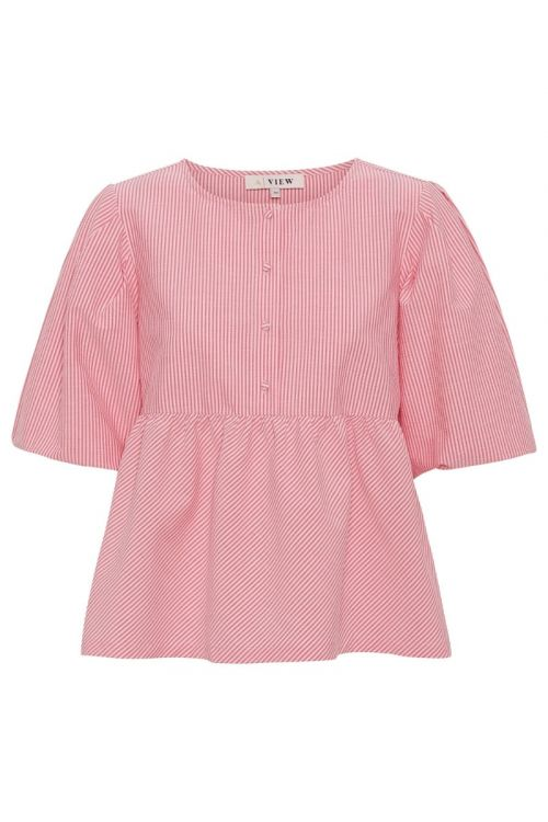 A-View Bluse Sara Blouse Bubble Pink Front