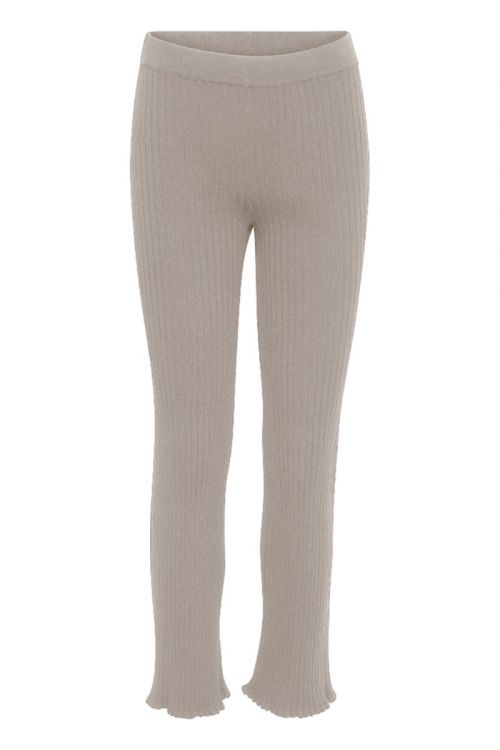 A-View - Bukser - Miro Knit Pant - White Pepper