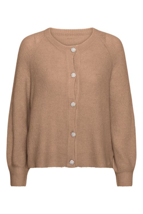 A-View Cardigan Menorca Knit Cardigan Camel Front