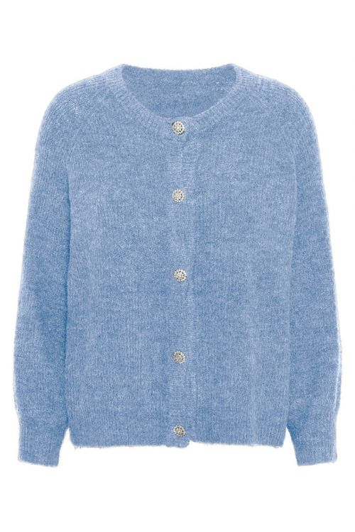 A-View Cardigan Menorca Knit Cardigan Light Blue Front