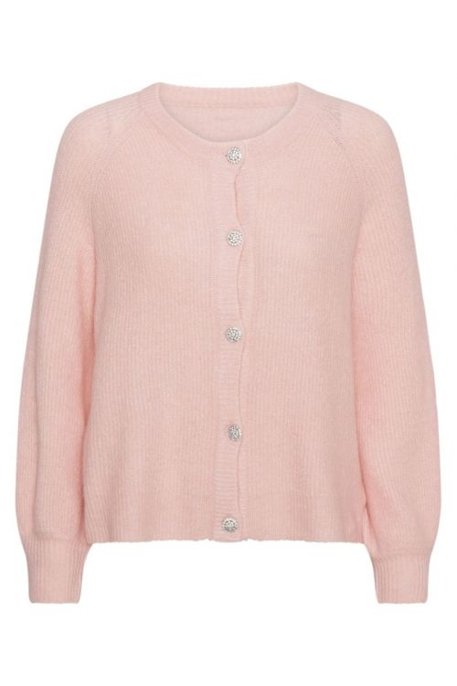 A-View Cardigan Menorca Knit Cardigan Pale Pink Front