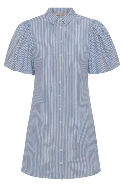 A-View Kjole Lona Stripe Dress Blue Front