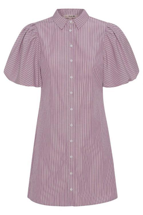 A-View - Kjole - Lona Stripe Dress - Lavendel