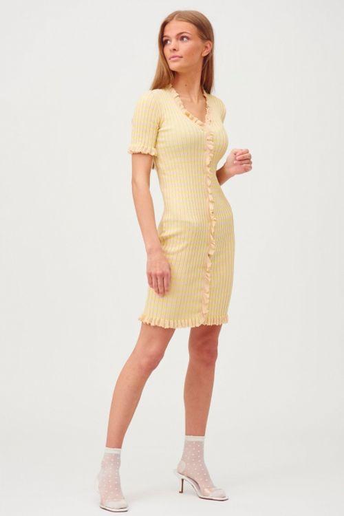 A-View - Kjole - Sabia Dress - Beige/yellow