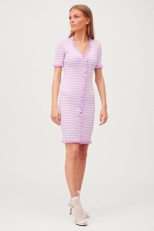 A-View - Kjole - Sabia Dress - Lavender/Off White