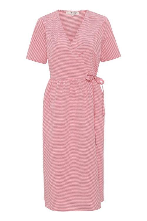 A-View - Kjole - Sara Wrap Dress - Bubble Pink