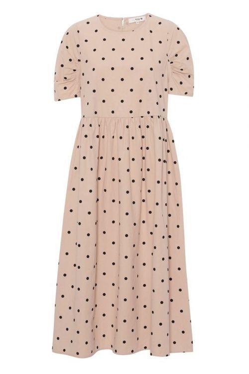 A-View - Kjole - Sisse Midi Dress - Beige