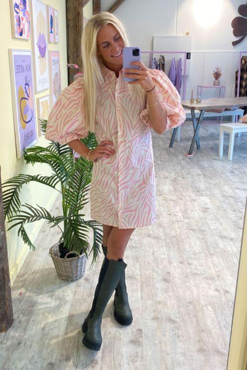 A-View - Kjole - Vilo Dress - Pink/White