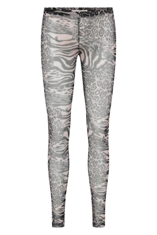 A-View Leggings Kaja Leggings Grey Animal Front