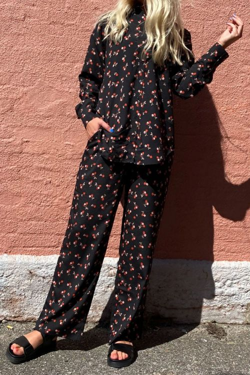 A-View - Skjorte - Mila Cherry Shirt - Cherry