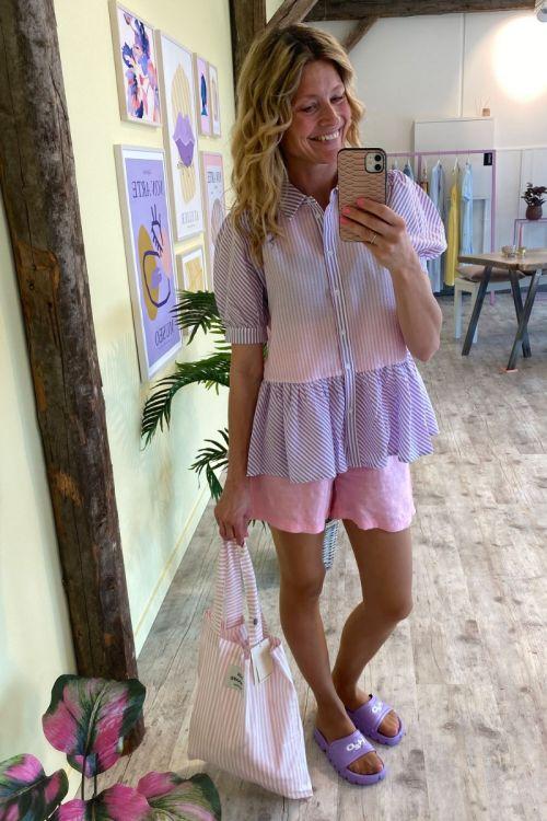 A-View - Skjorte - Rikke Shirt - Lavander/Pink