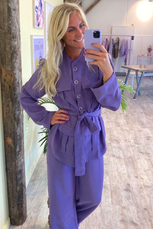 A-View - Skjorte - Vica Shirt - Purple