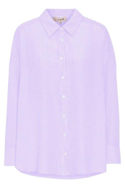 A-View Skjorte Sonja Shirt Purple/White Front