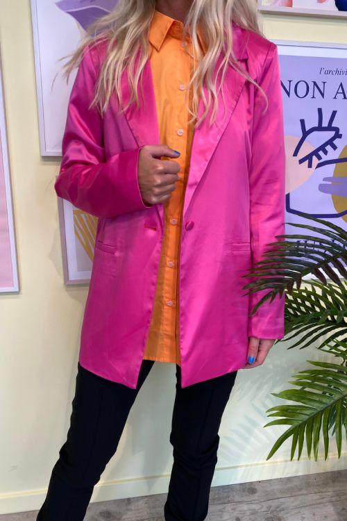 Forudbestiling - A-View - Blazer - Swan satin - 350 Pink (Levering i slut oktober)