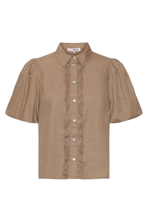 A View Bluse Helle Shirt Beige Front