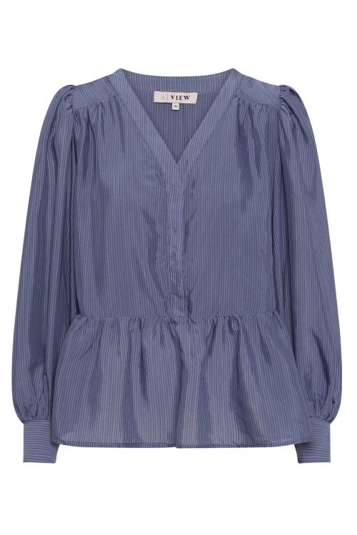A View Bluse Karolinah Blouse Blue Front