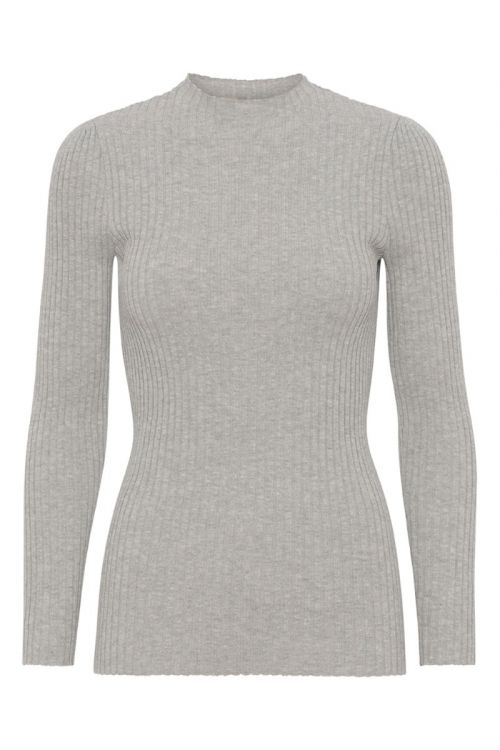 A-View - Bluse - Mai Knit - Light grey melange