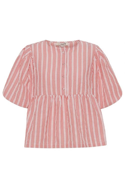 A-View Bluse Rikka Blouse Red/white Front