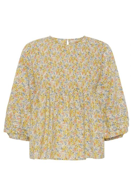 A-View Bluse Roberta Blouse Yellow Print Front