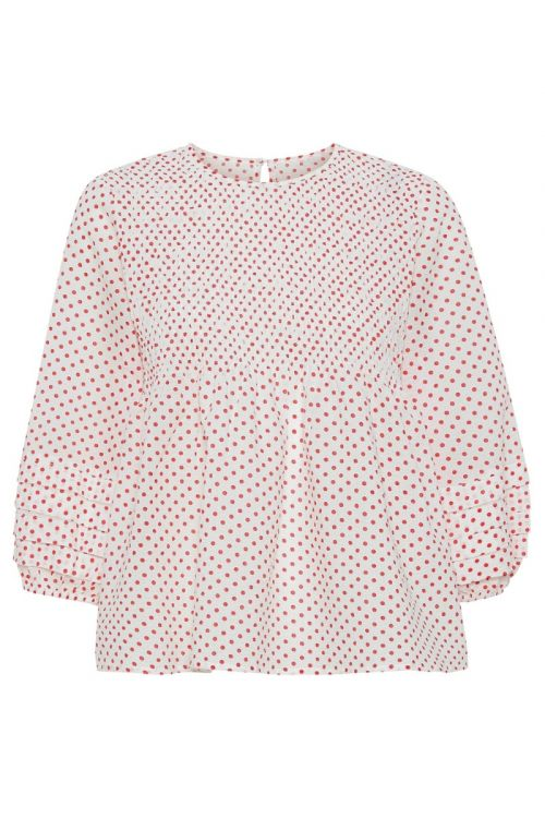 A-View - Bluse - Rosa Blouse - White With Red Dots