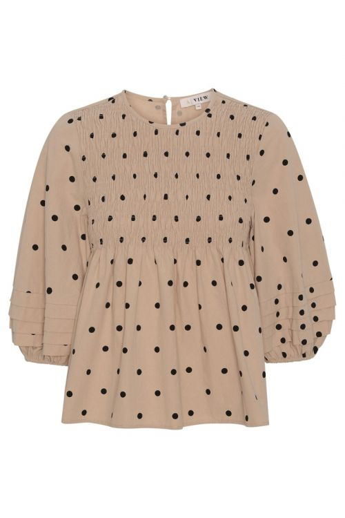 A-View - Bluse - Sisse Blouse - Beige