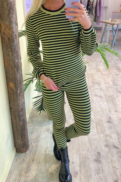 A-View - Bluse - Violet knit blouse - Black/Green