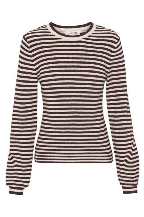 A-View - Bluse - Violet knit blouse - Brown/Sand