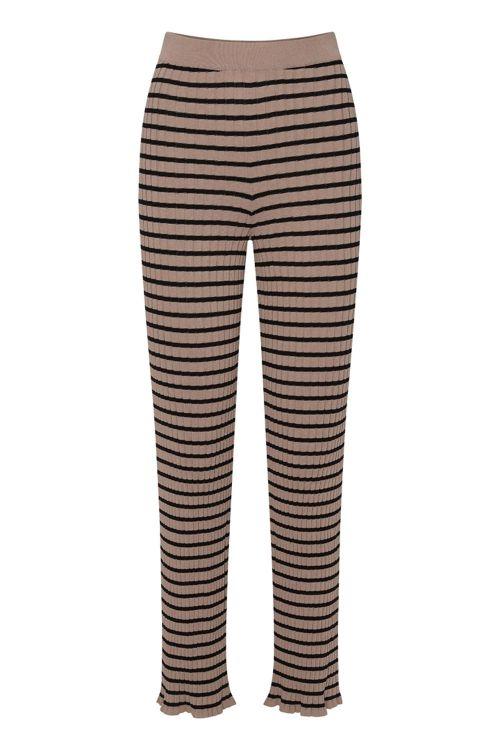 A View Bukser Kira Knit Pant Black White Pepper Front