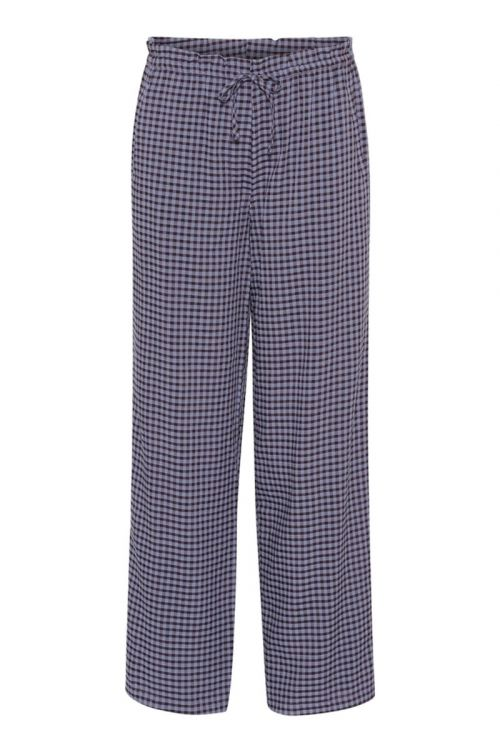 A-View Bukser Mia Pant Blue Check Front