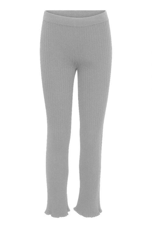 A-View - Bukser - Miro Knit Pant - Light Grey Melange