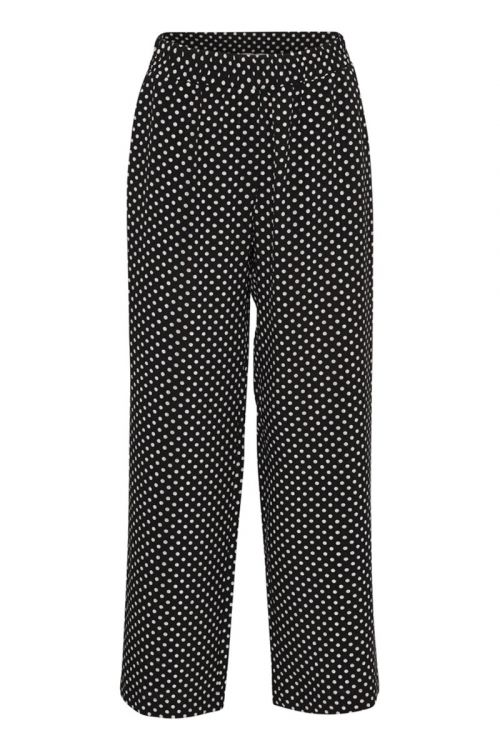 A-View - Bukser - Oda Pant - Black with Dots