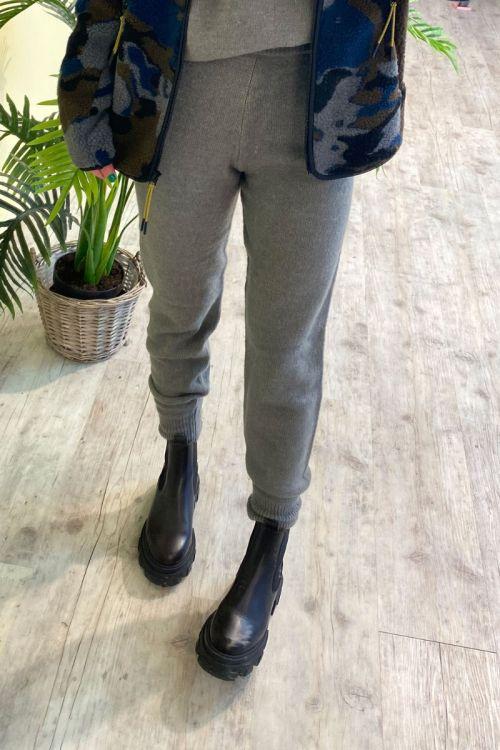 A-View - Bukser - Polka Pant - Light Grey Melange