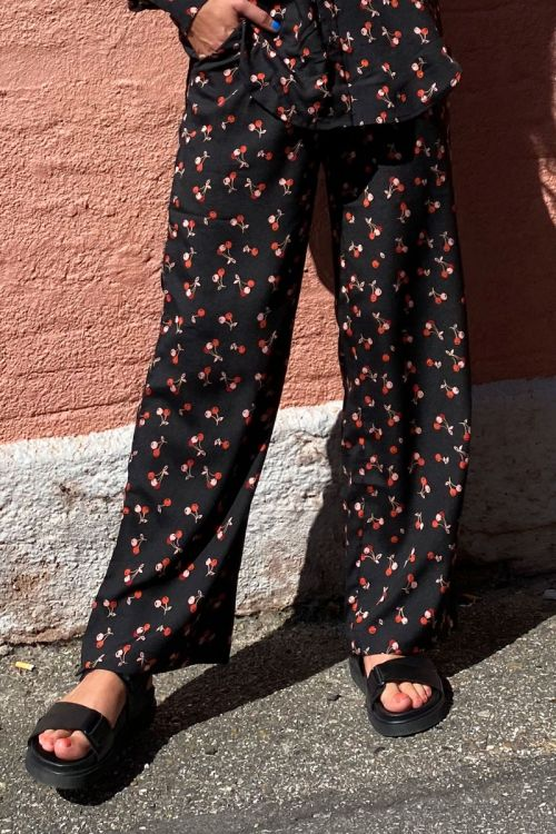 A-View - Bukser - Sussy Cherry Pant - Cherry