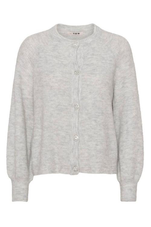 A-View Cardigan Menorca Knit Cardigan Light grey Front