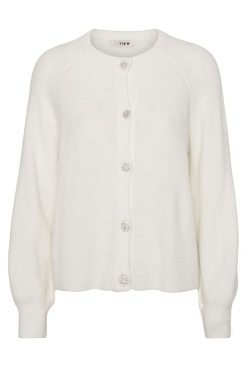 A-View Cardigan Menorca Knit Cardigan Off white Front