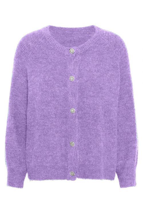 A-View Cardigan Menorca Knit Cardigan Purple Front