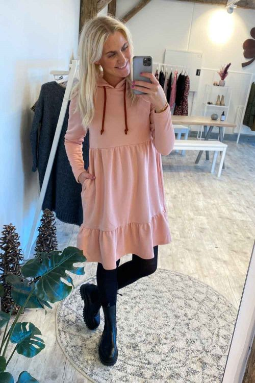 A-View Kjole Anette Sweat Dress Rose Hover