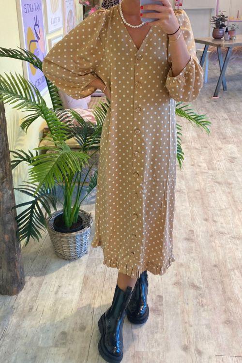 A-View - Kjole - Anja Dress - Camel