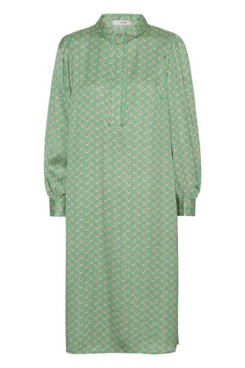 A-View - Kjole - Onah Shirt Dress - Green