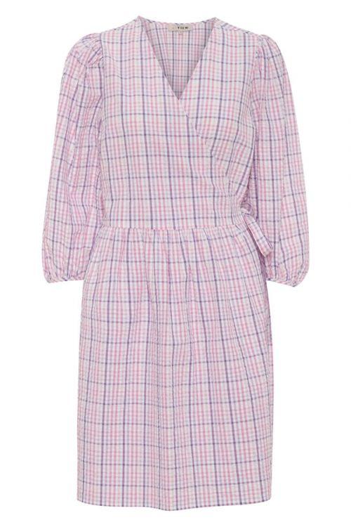 A-View Kjole Rebekka Wrap Dress Lavander/Pink Front