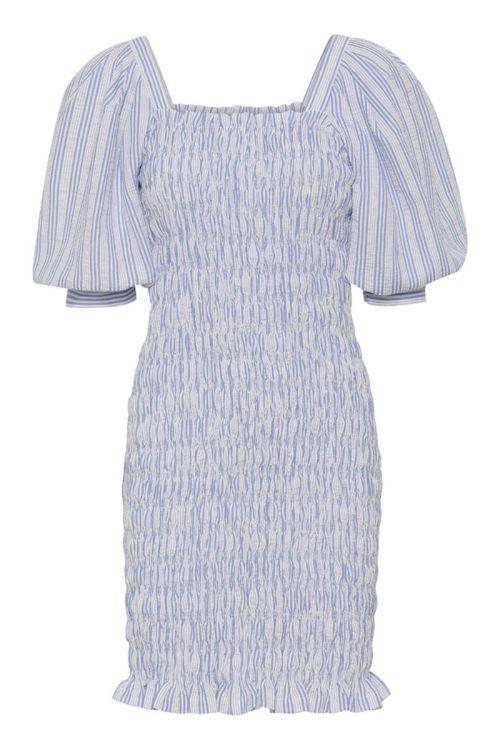 A-View Kjole Rikka Dress Blue/white Front