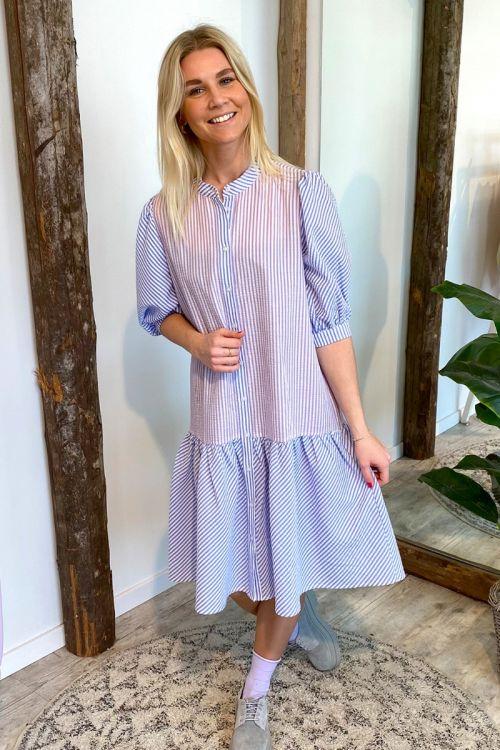 A-View - Kjole - Rikke Dress -  Blue/Lavender