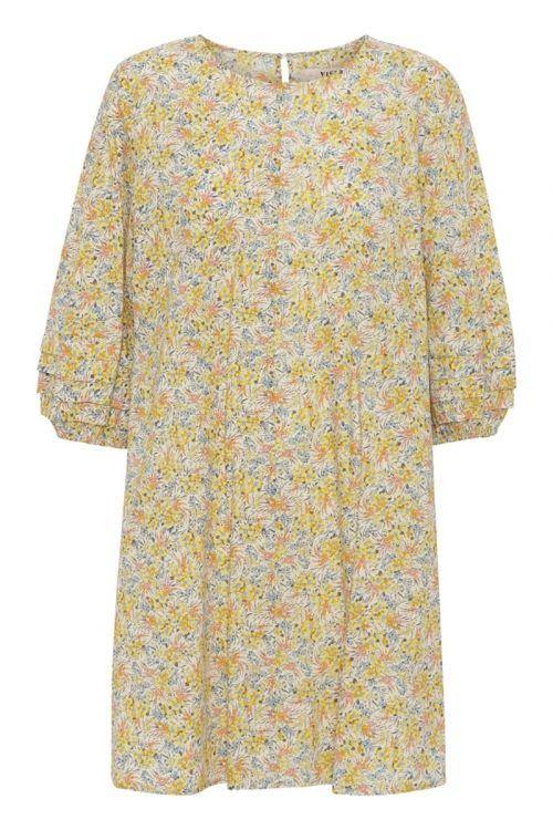 A-View Kjole Robeta Dress Yellow Print Front