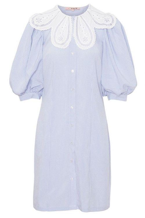 A-View - Kjole - Tamira Dress - Blue/White