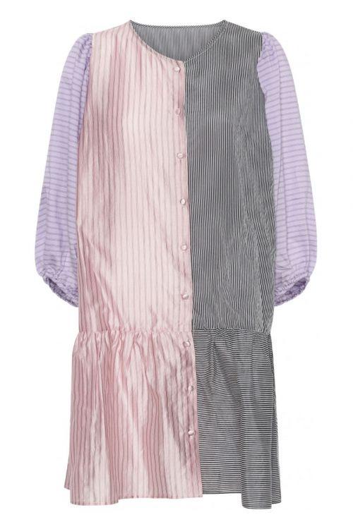 A-View - Kjole - Villevei Dress - Black/Pink/Lavender
