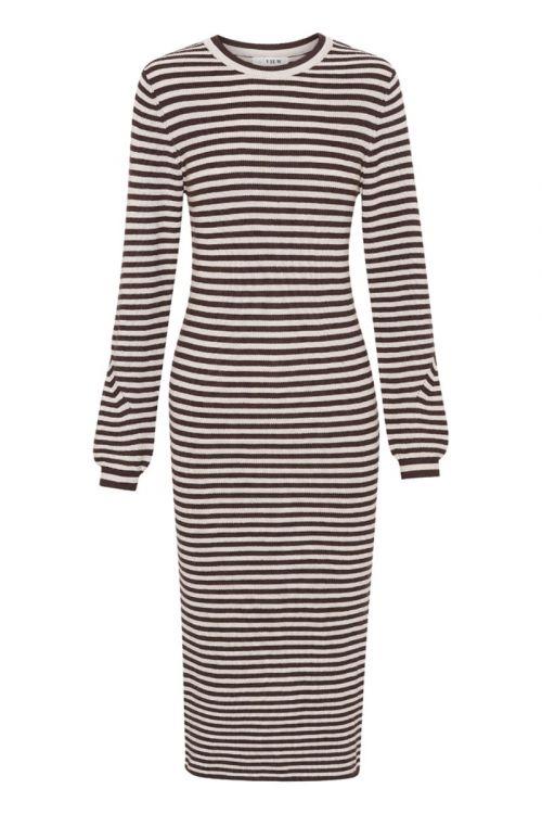 A-View - Kjole - Violet Knit Dress - Brown/Sand
