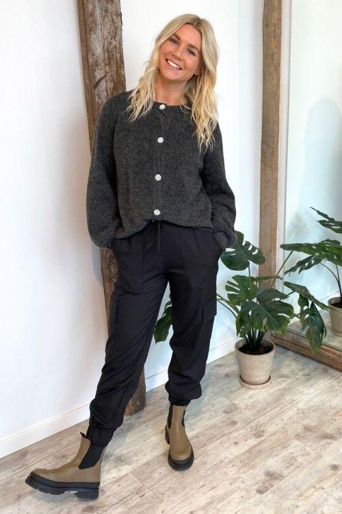 A-View - Cardigan - Menorca Knit Cardigan - Dark Grey