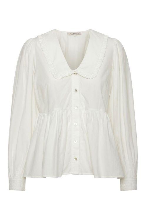 A View Skjorte Hirse White Front
