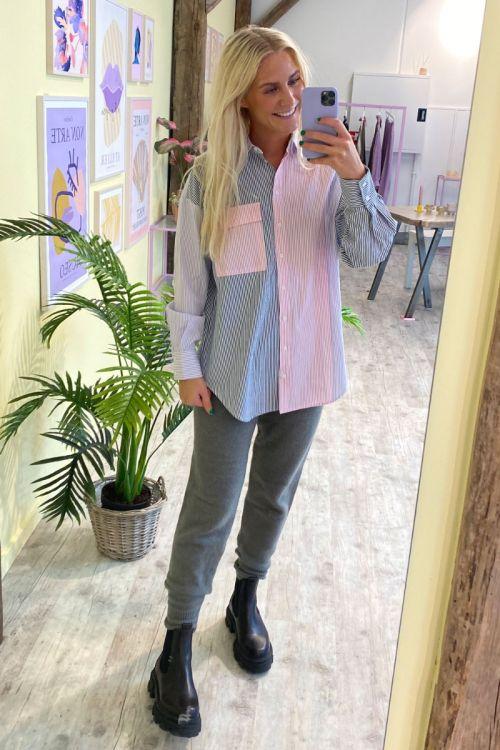 A-View Skjorte Jacobina Shirt Blue/Purple/Rose Hover